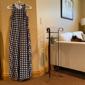 Banana Republic Gingham Maxi Dress